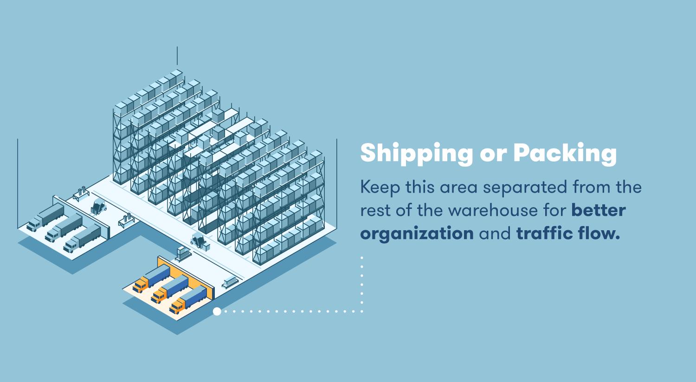 warehouse layout shipping or packing BigRentz