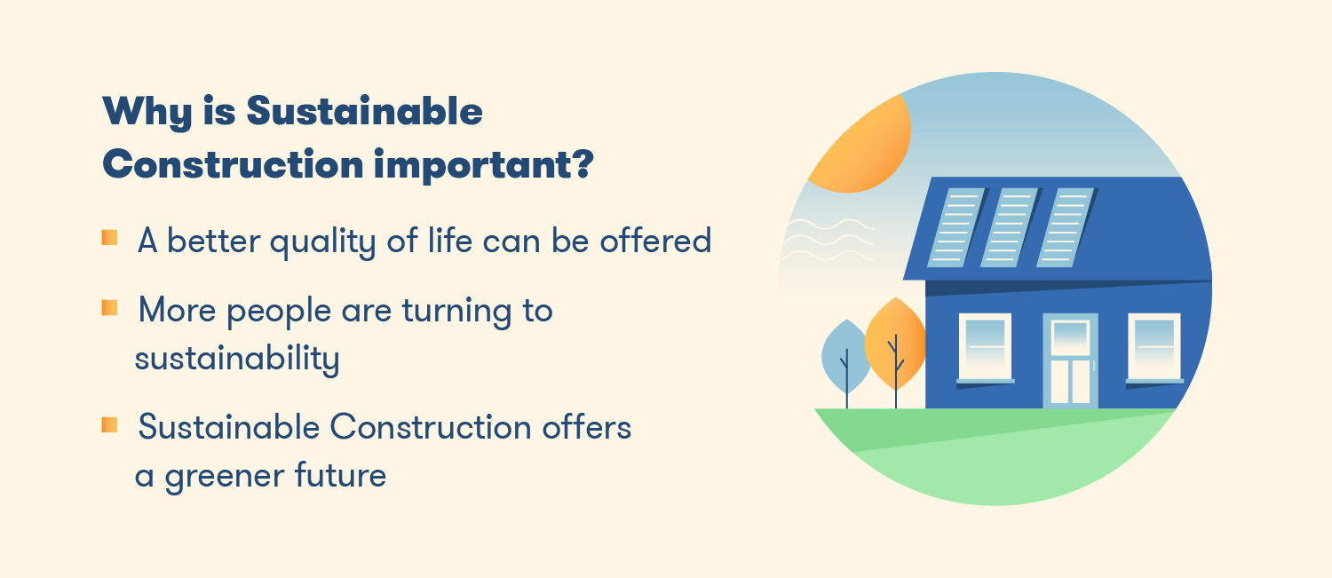 sustainable construction offers a greener future