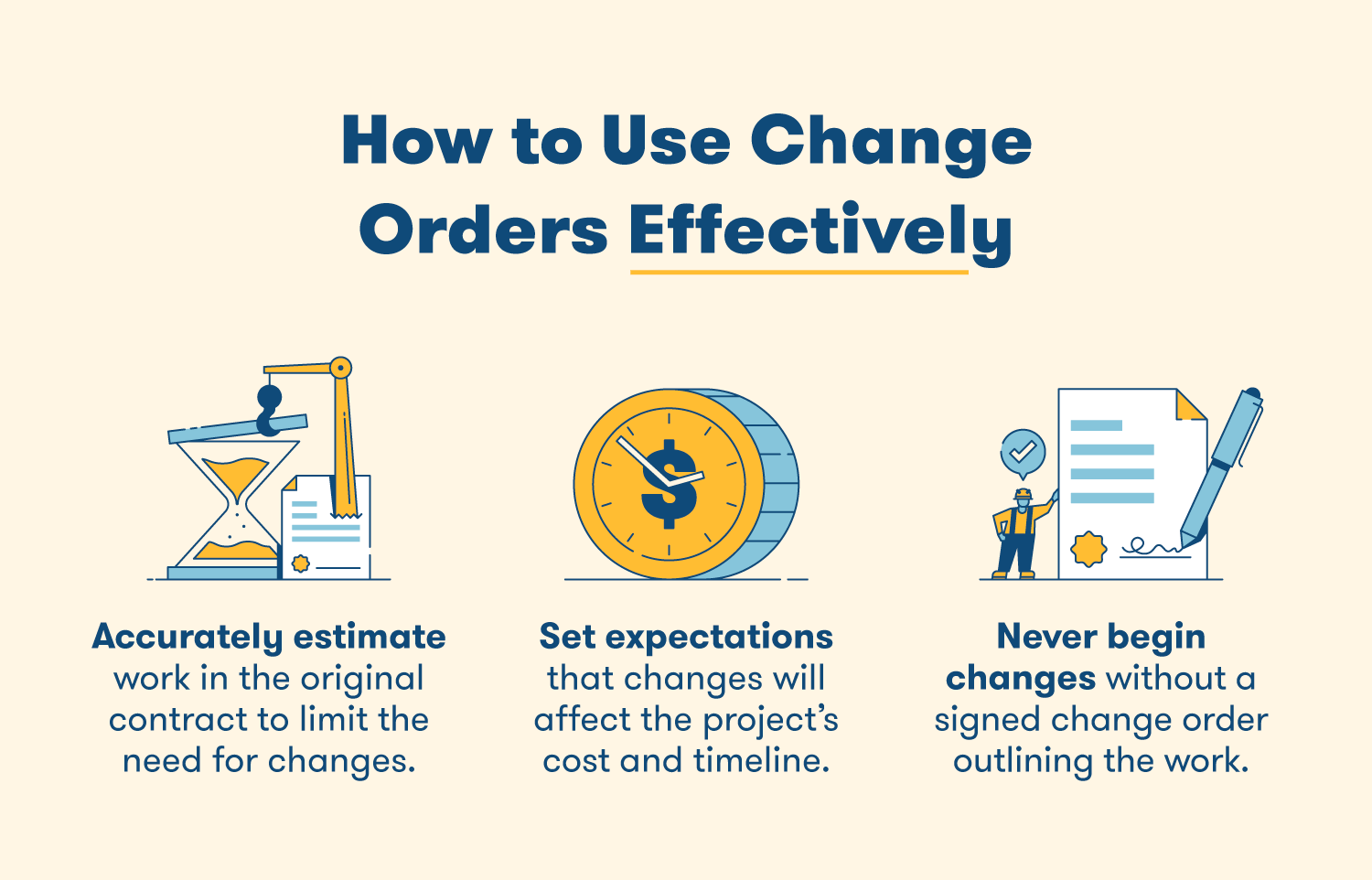 how to use change orders effectively