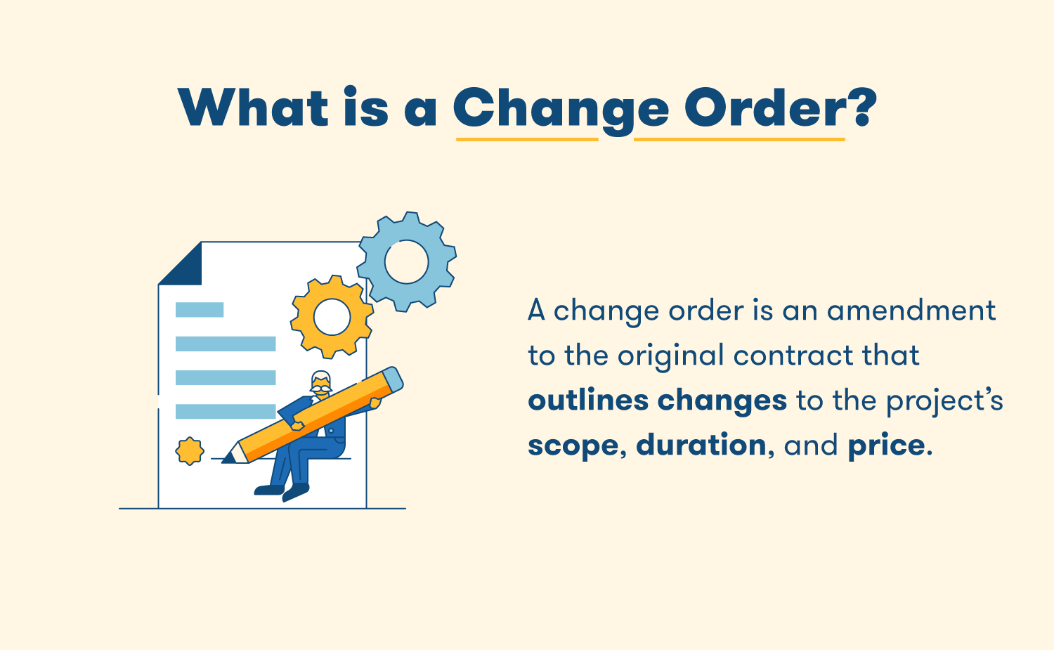 what is a change order
