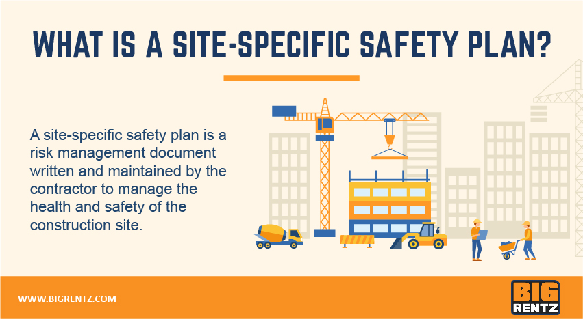 What is a site-specific safety plan?