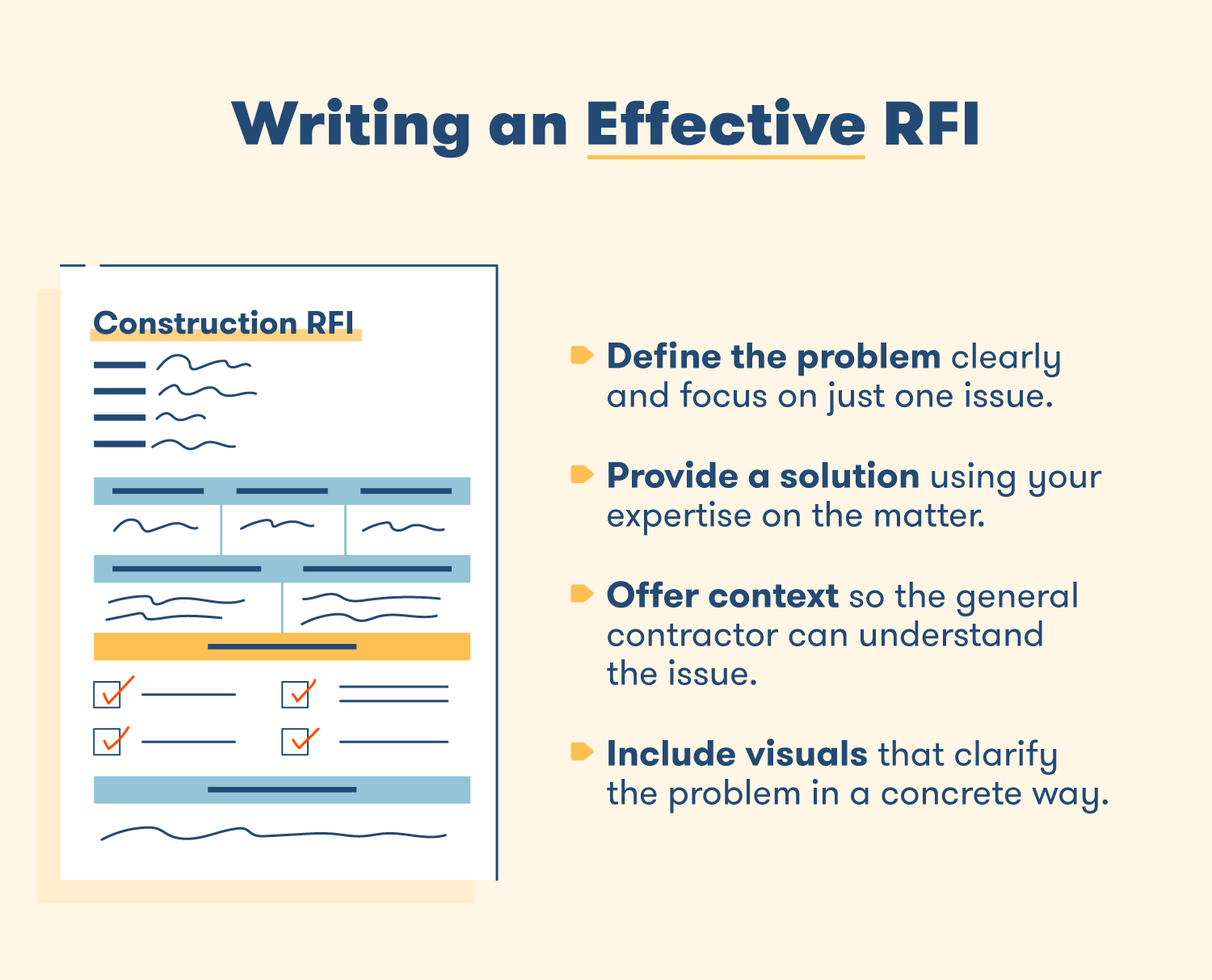 Tips for writing an effective RFI.